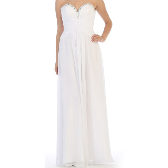 White Simple Wedding Destination Dress & Plus Size Boutique